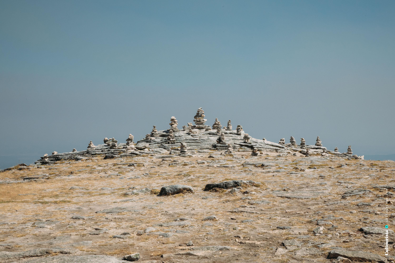 Piles of stones in Torre