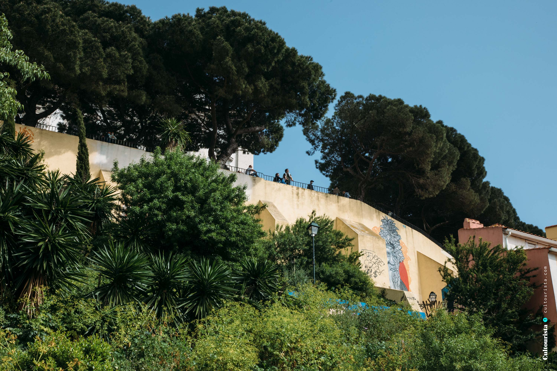 Viewpoint Graça from below in Lisbon