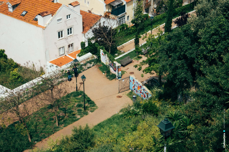 Viewpoint Graça park in Lisbon