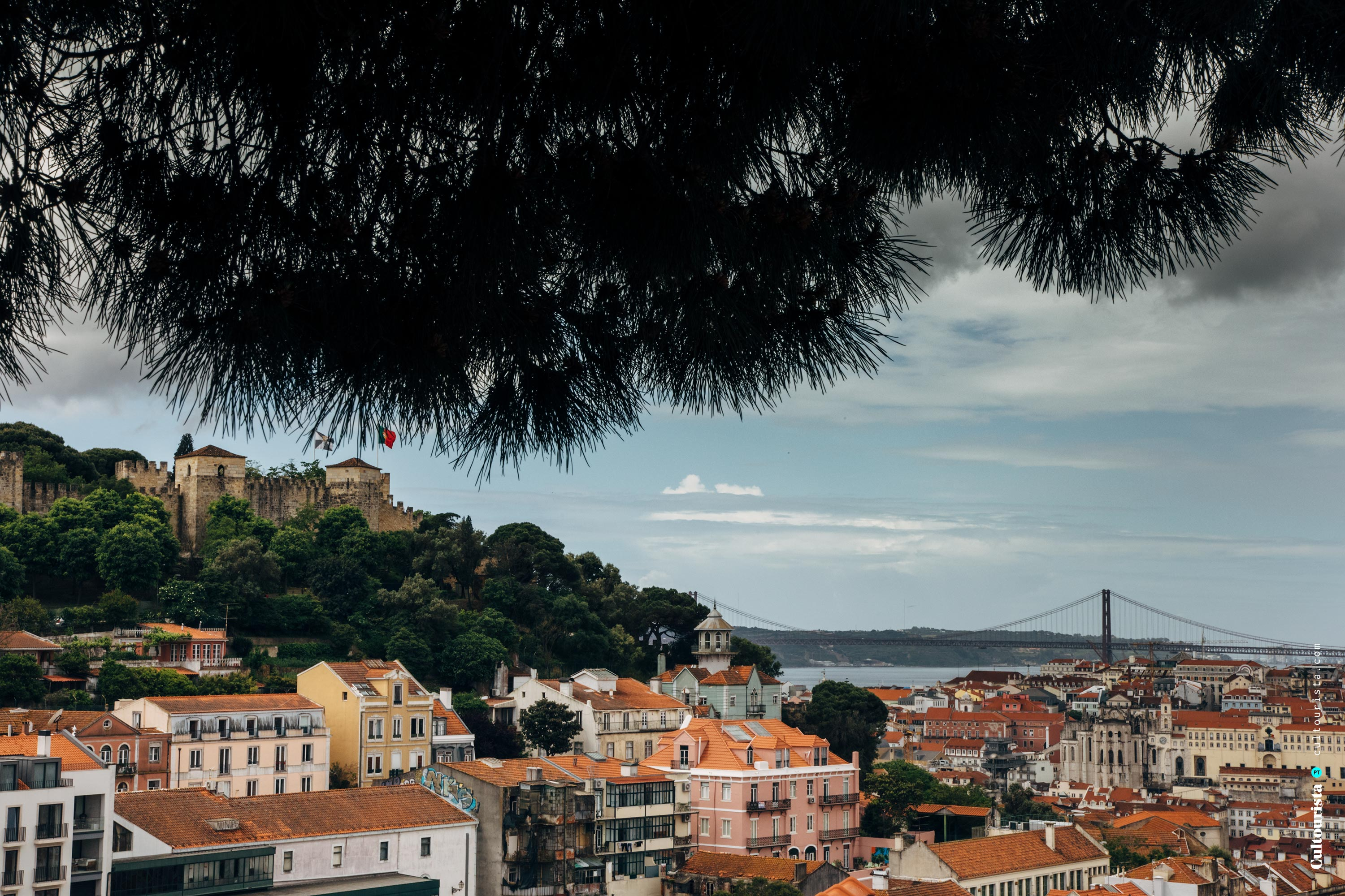 Sight from the viewpoint Graça in Lisbon