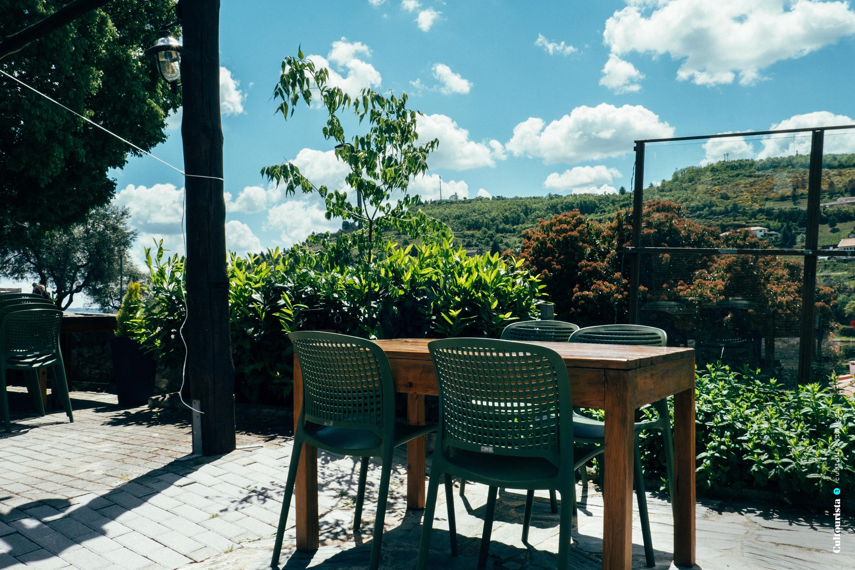 Terrace of the restaurant Taberna do Javali in Bragança
