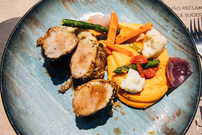 Porkloin dish at the restaurant Taberna do Javali in Bragança
