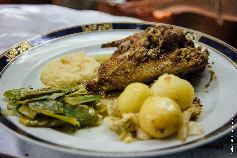 Pheasant from the restaurant Solar Bragancano