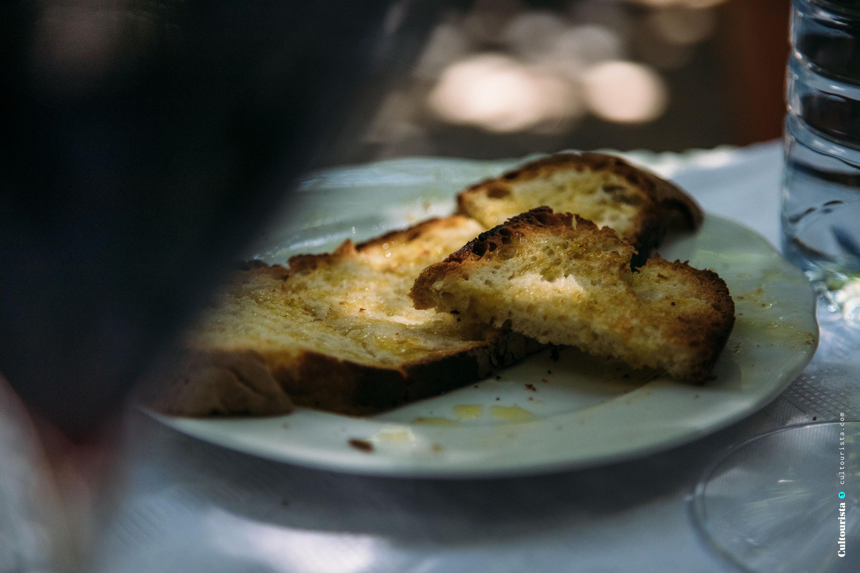Toasted bread from the restaurant Solar Bragancano, in Braganca