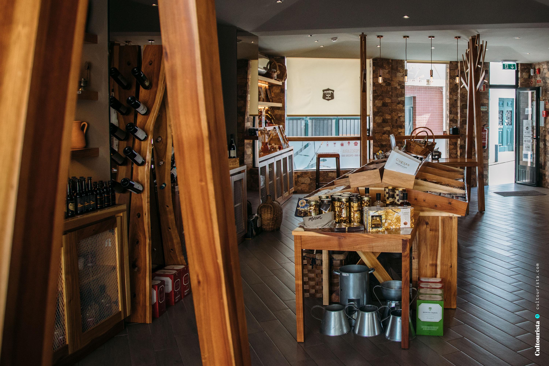 Interior space of the shop Marron in Bragança, Portugal