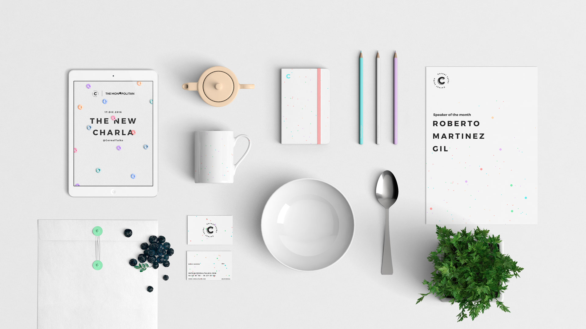 Creating a fun identity for a creative event based on the design elements of the hosting site.