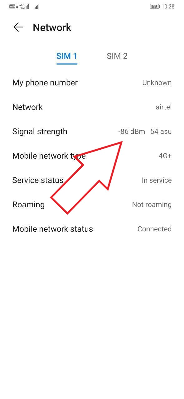 Check Phone Network Signal Quality on Android