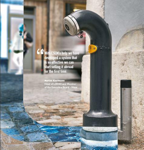 Borne intelligente détection fuites d'eau