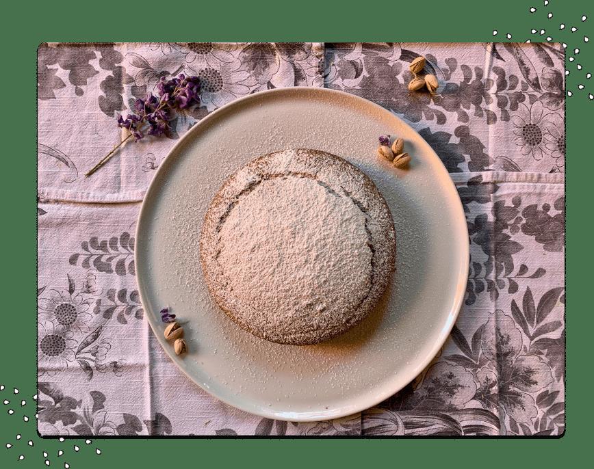 Vegan pistachio cake