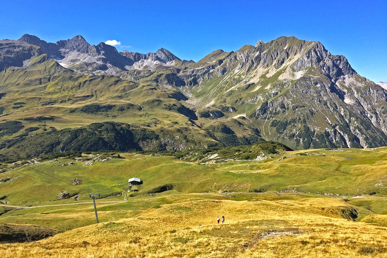 Bergpanorama am Arlberg