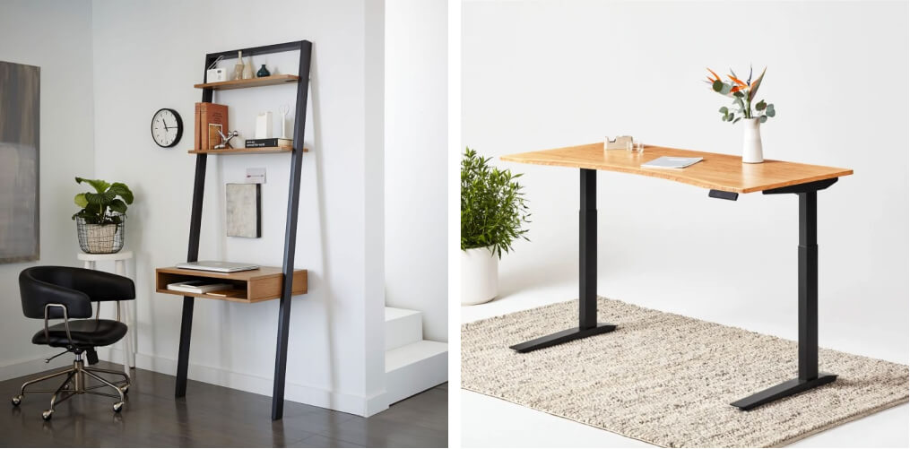 two modern desks for working from home