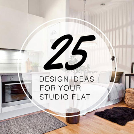 25 STYLISH DESIGN IDEAS FOR YOUR STUDIO FLAT from The LuxPad