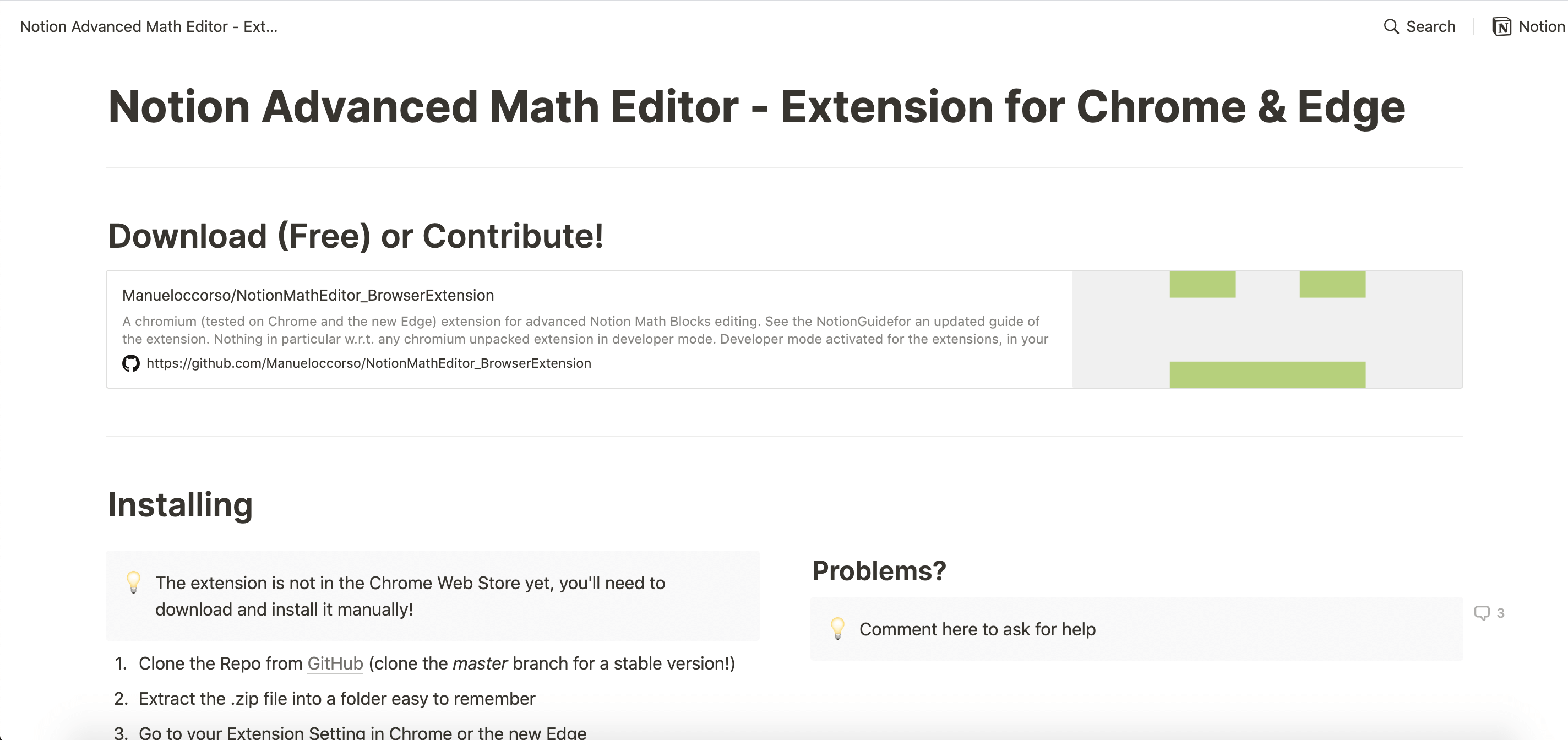 Notion Advanced Math Editor