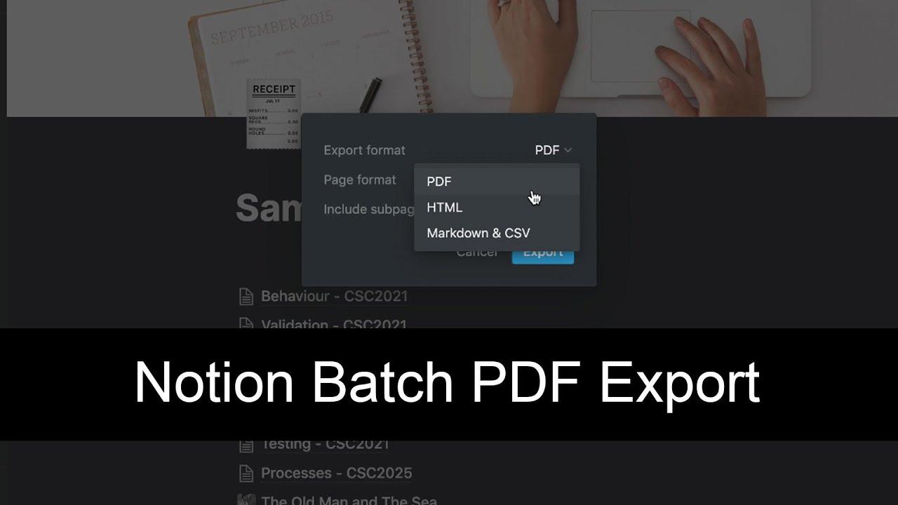Notion PDF Export