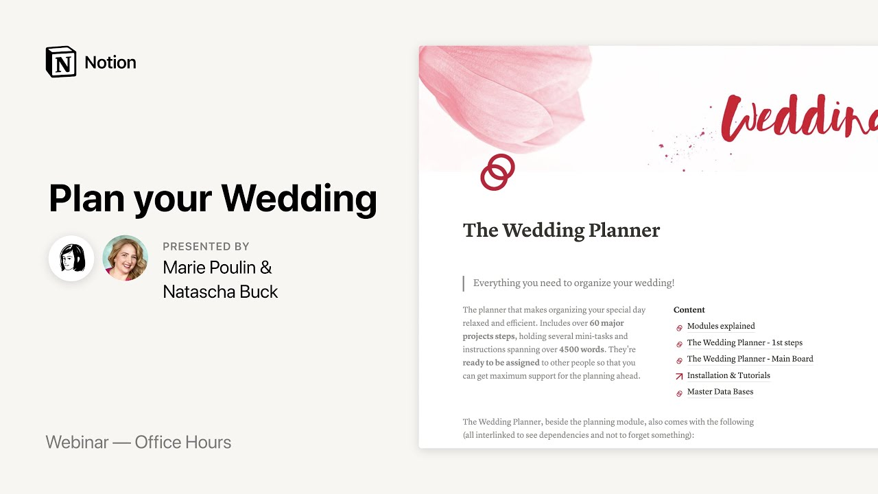 Notion Office Hours: Plan your Wedding 💚