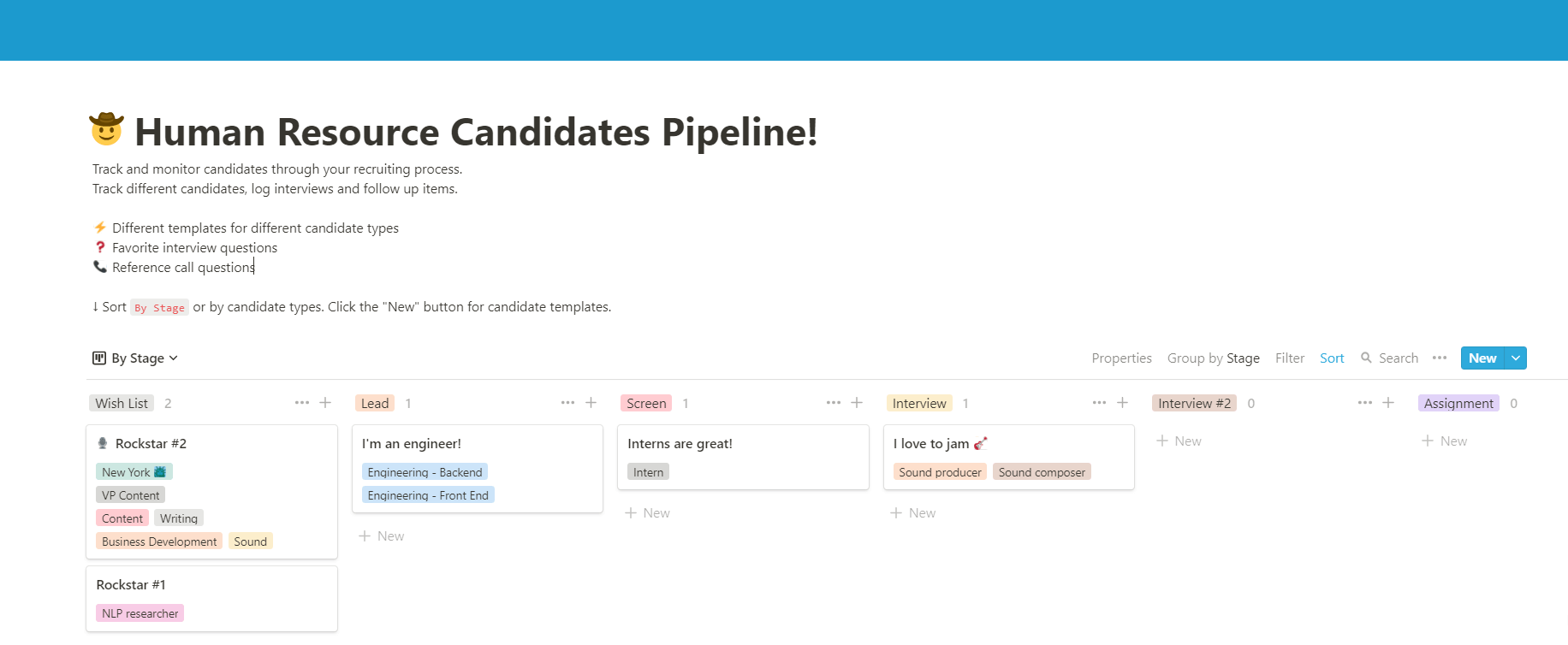 HR Candidate pipeline manager