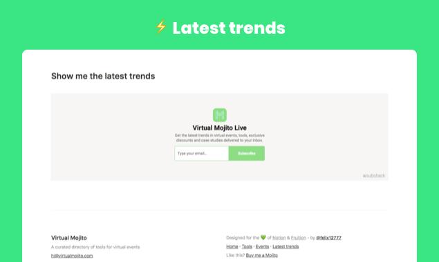 Virtual Mojito - Curated Content Website Template