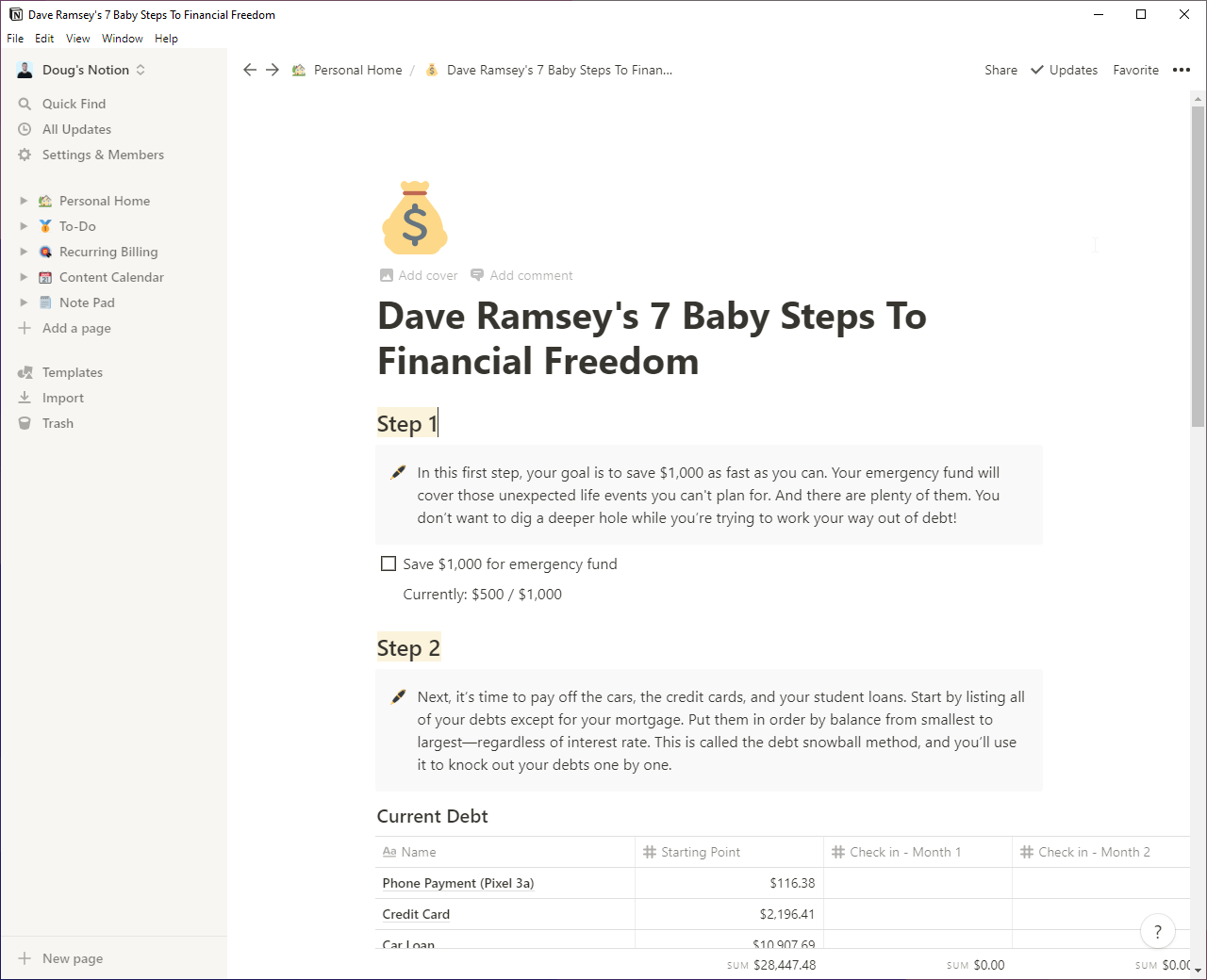 Dave Ramsey's 7 Baby Steps To Financial Freedom