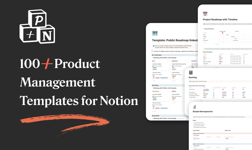 Product Notion: Product Management Templates in Notion