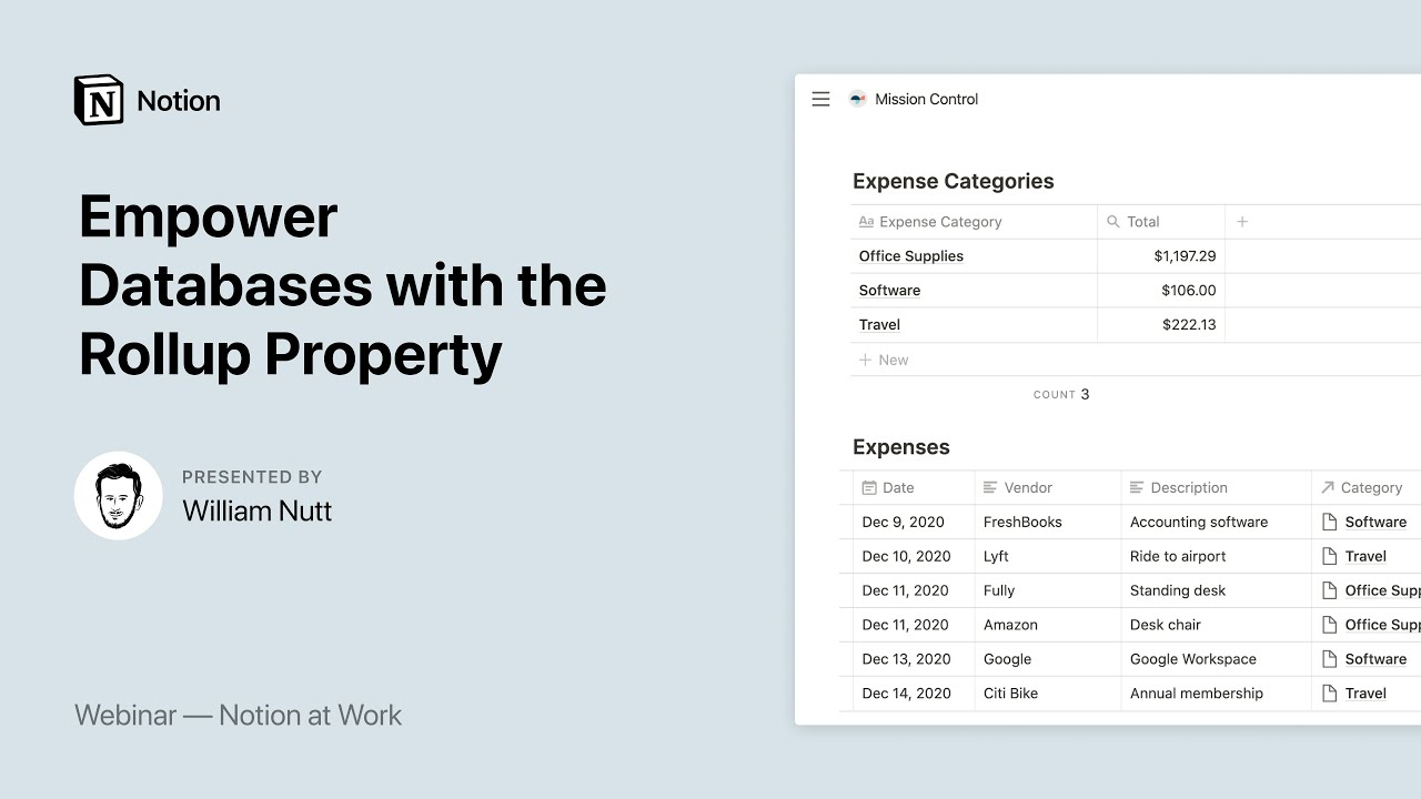 Notion at Work: Empower Databases with the Rollup Property