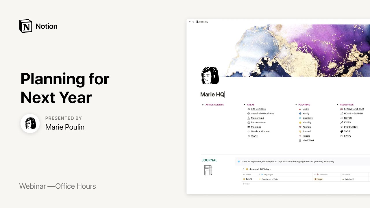 Notion Office Hours: Planning for Next Year 📅