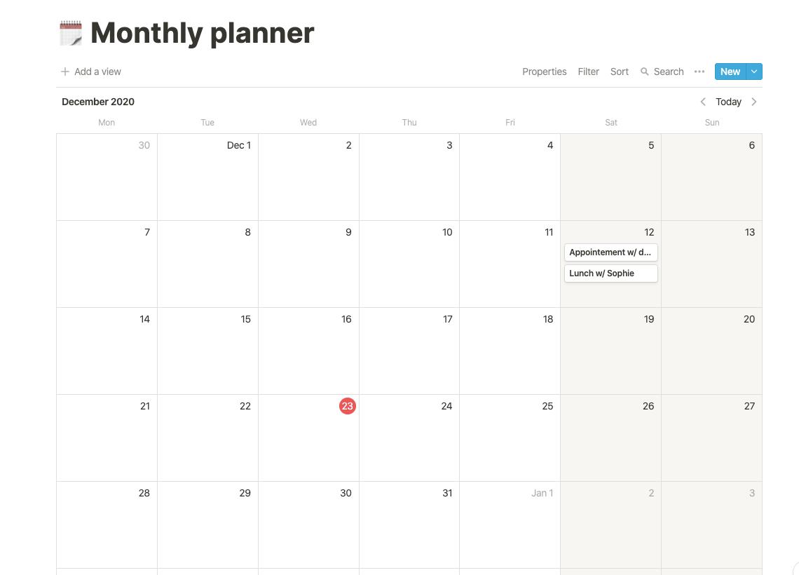 2021 Planner