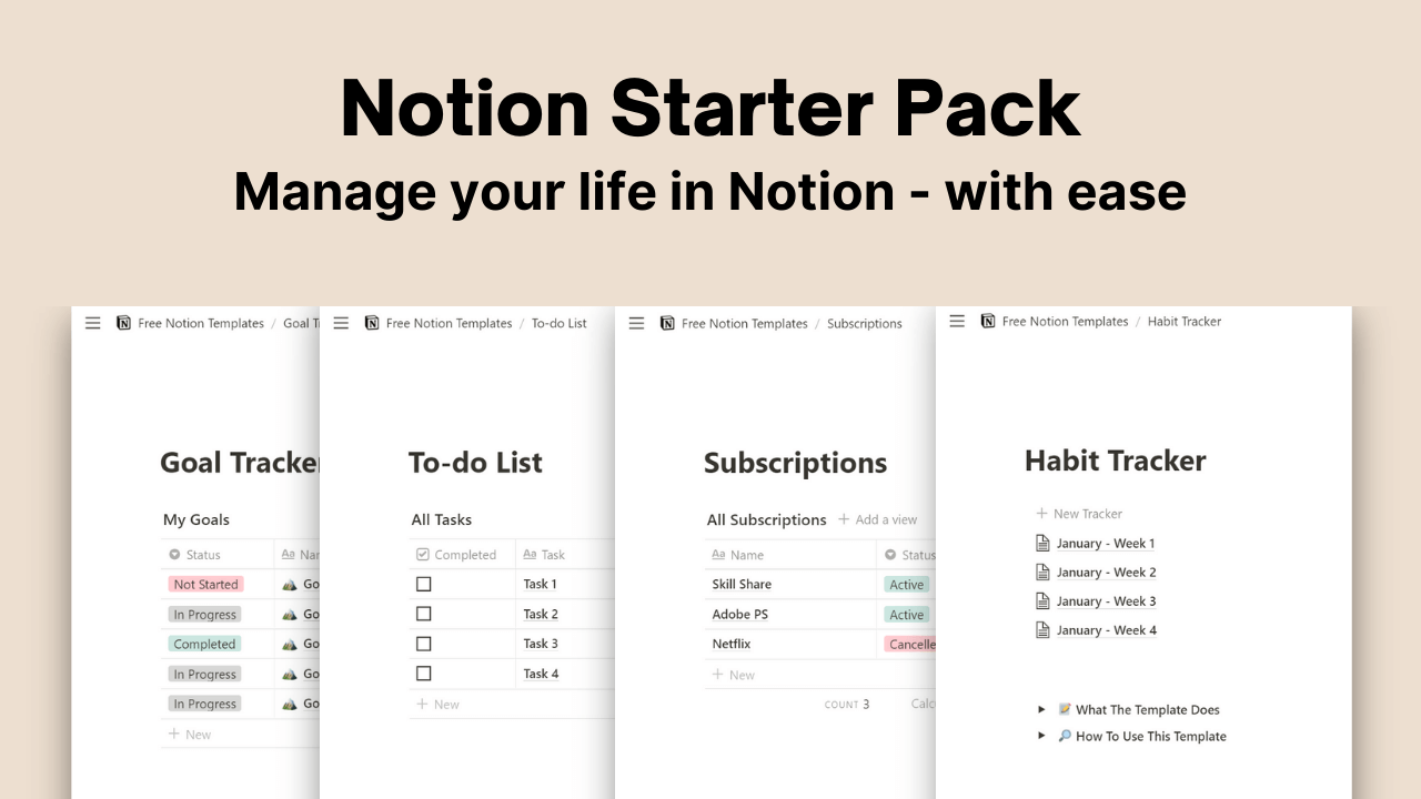 Notion Starter Pack