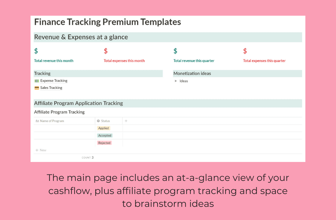 Blog Finance Tracker Bundle