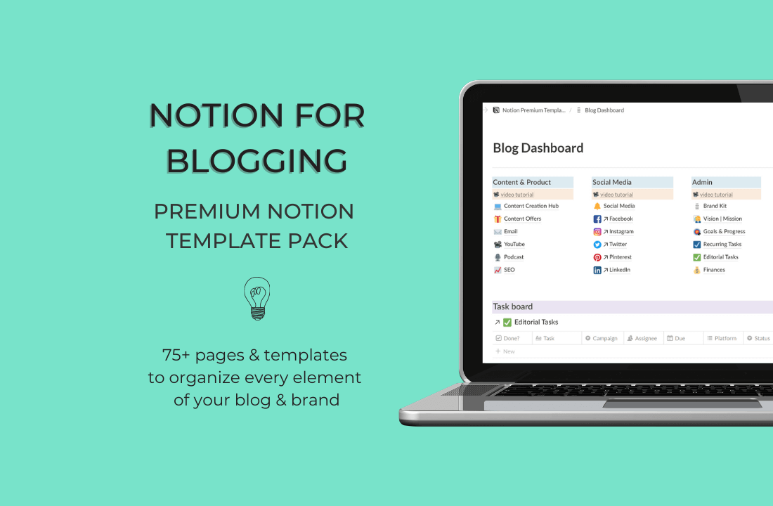 Notion Blog Template Pack