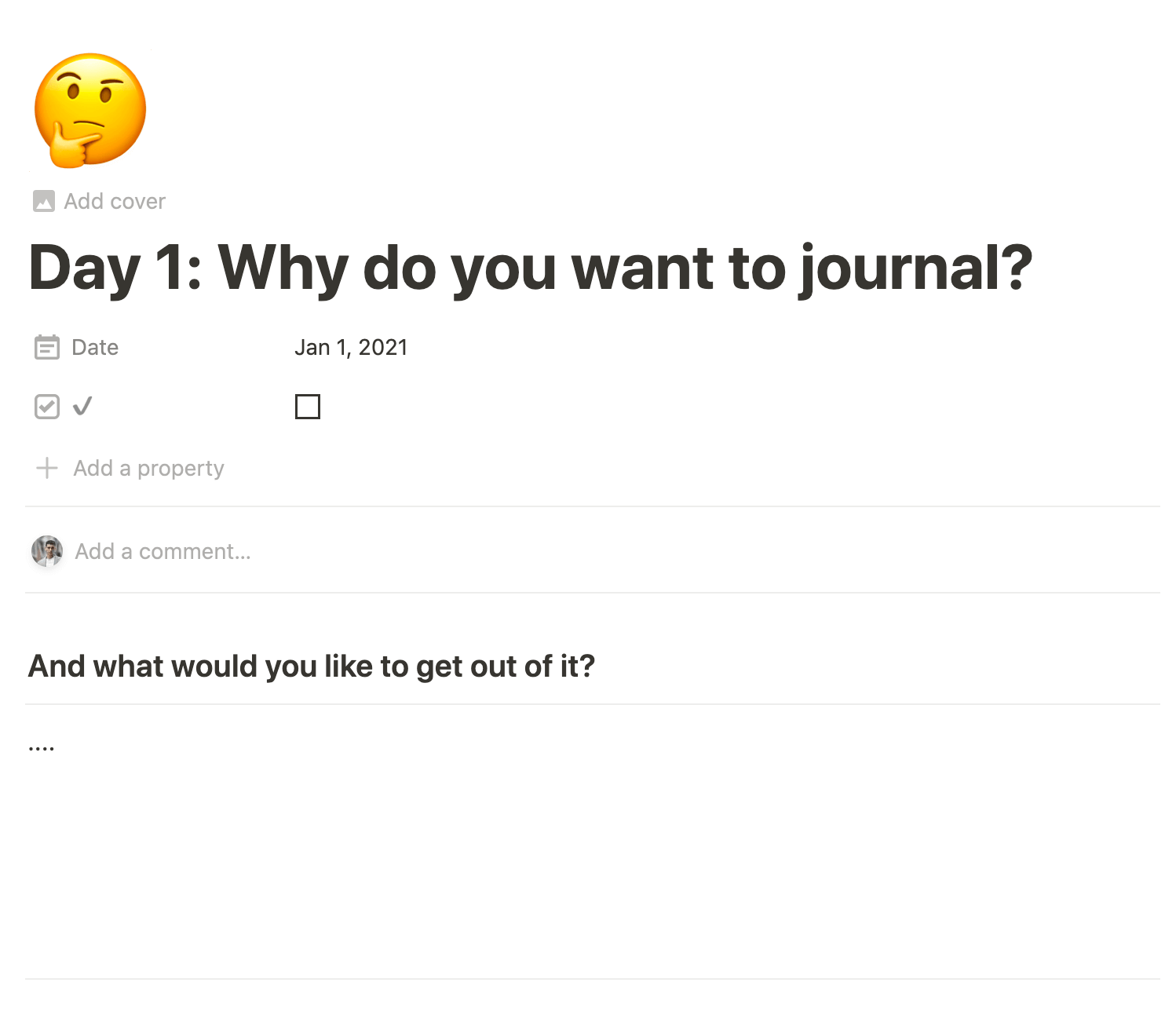 31-Day Journaling Challenge