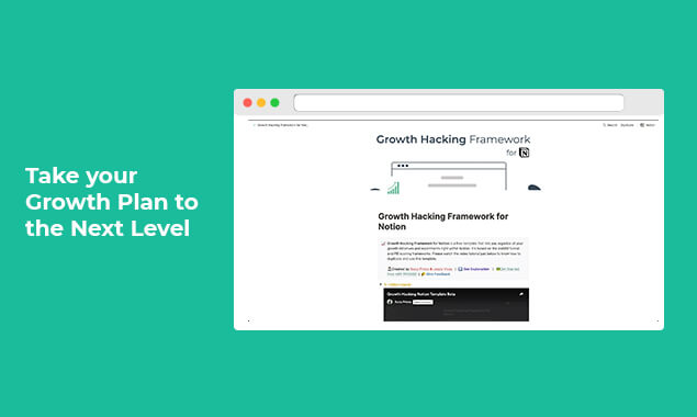 Growth Hacking Framework for Notion