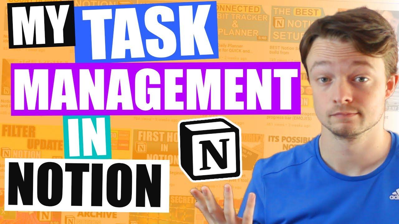 MASTERING TASKS In Notion | My task database helped me graduate