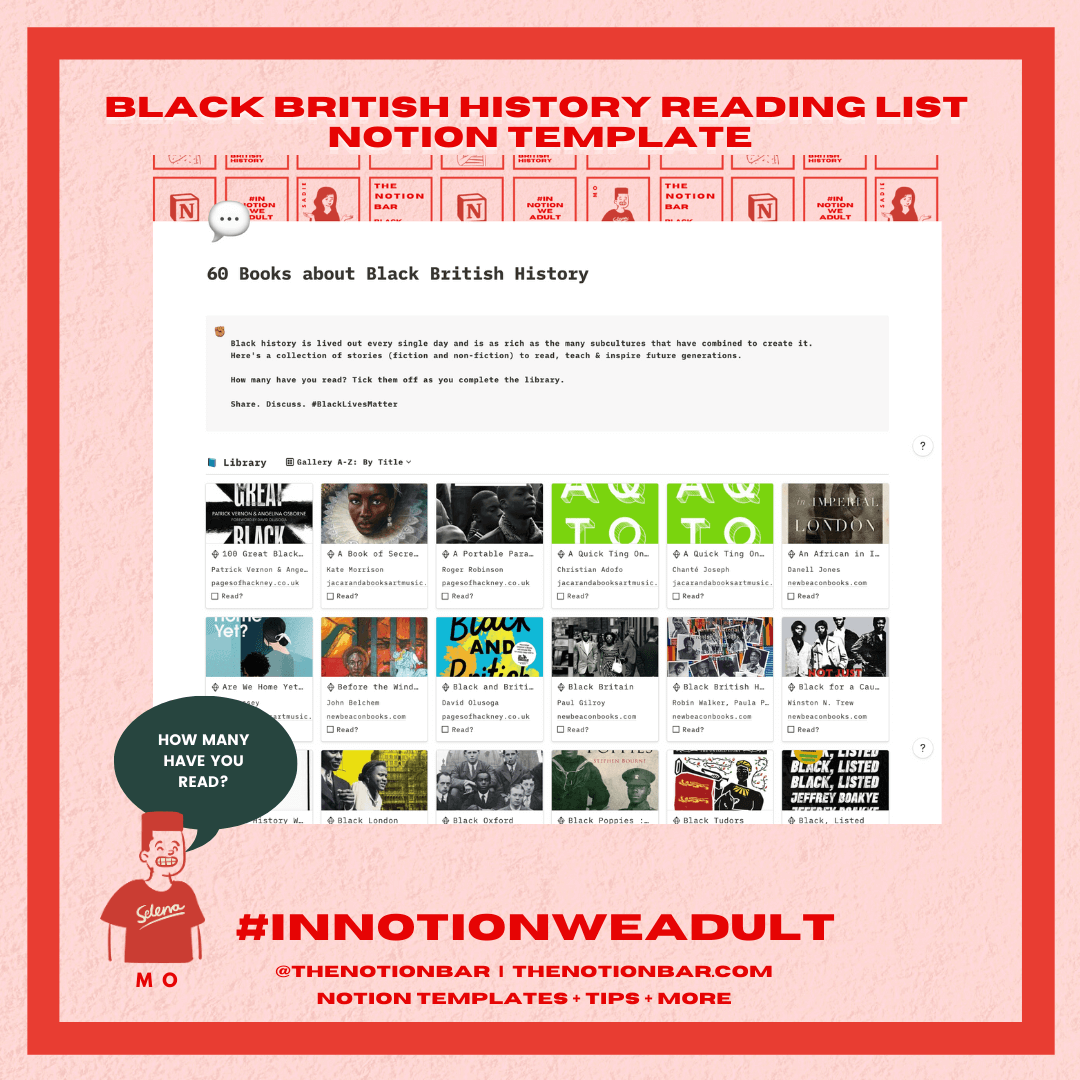 Black British History Reading List Notion Template