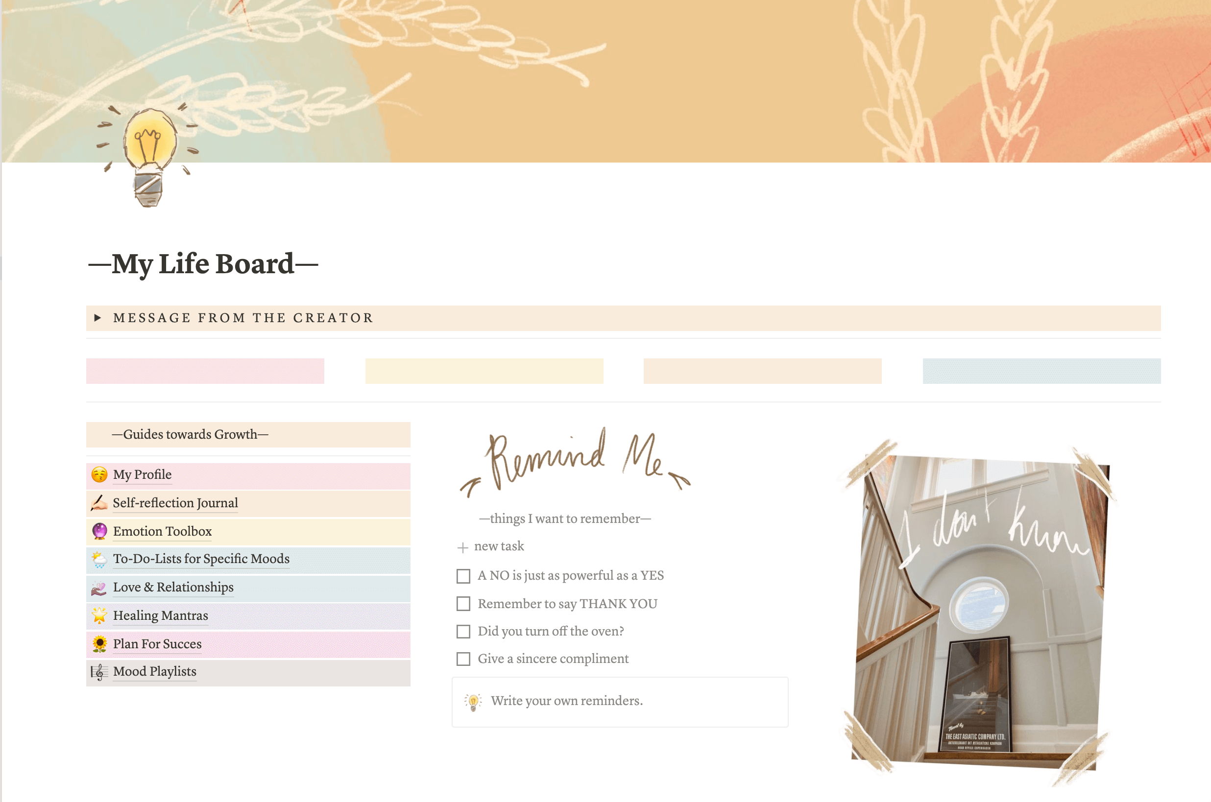 Notion Self-growth Template