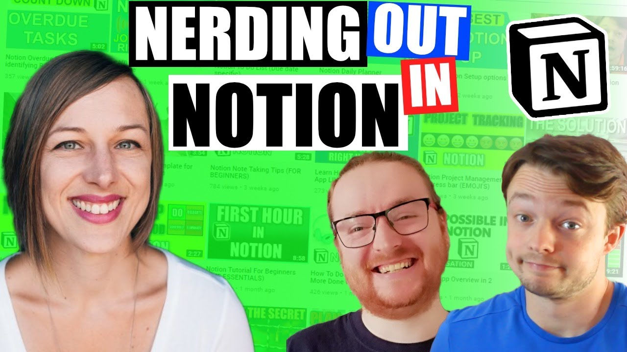 Notion Nerd's with Marie Poulin \\ LIVE Q & A and workspace TOUR