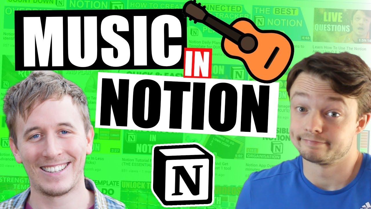 Notion GUITAR LESSONS  // LIVE planning and building