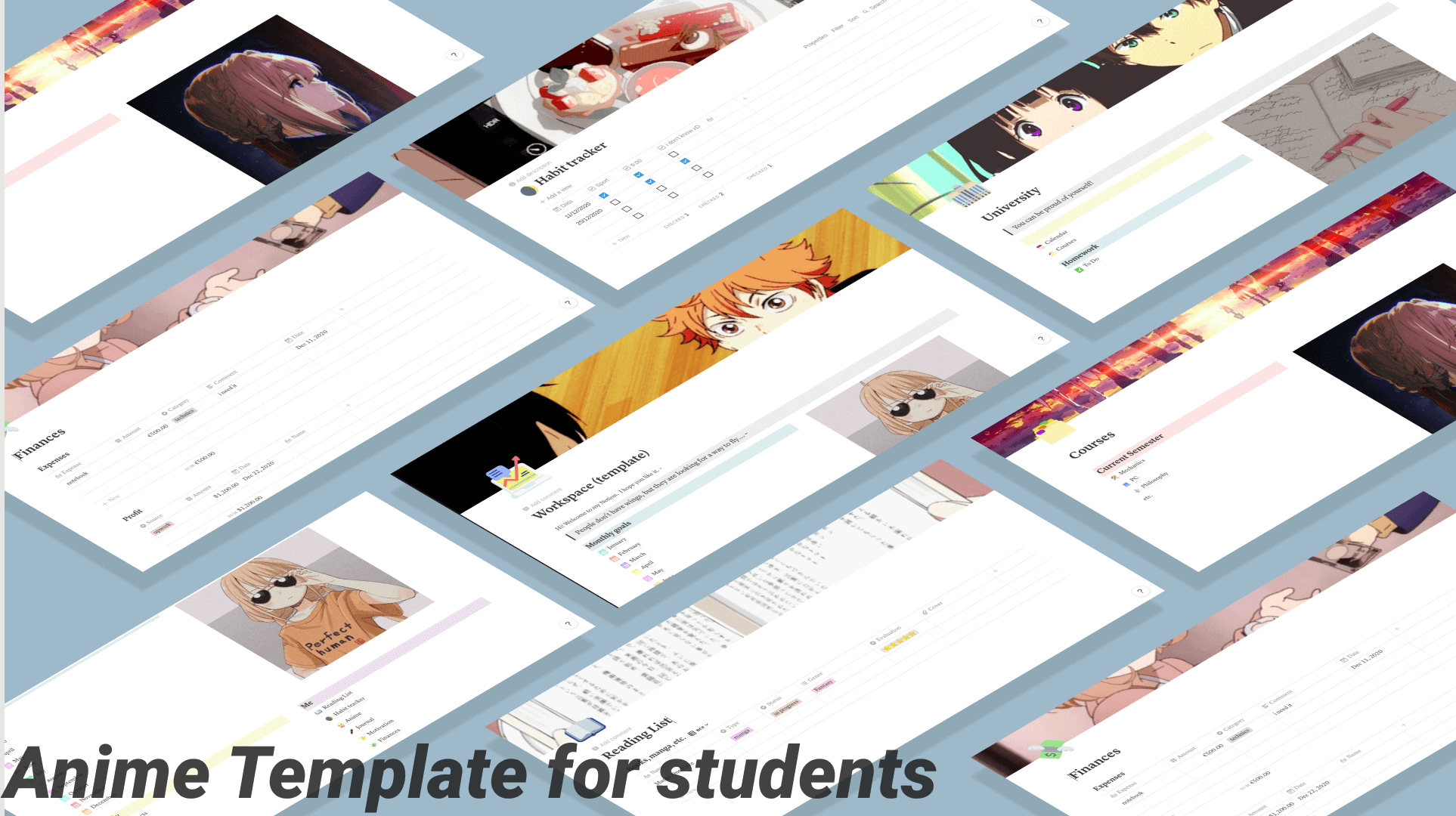 Anime Template for students :3