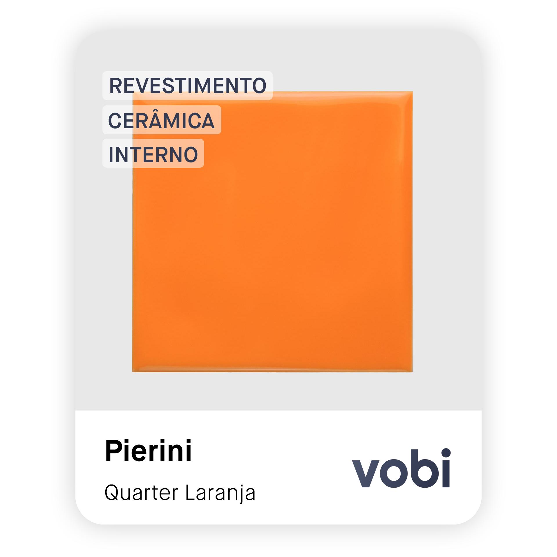 revestimento cerâmica laranja interno
