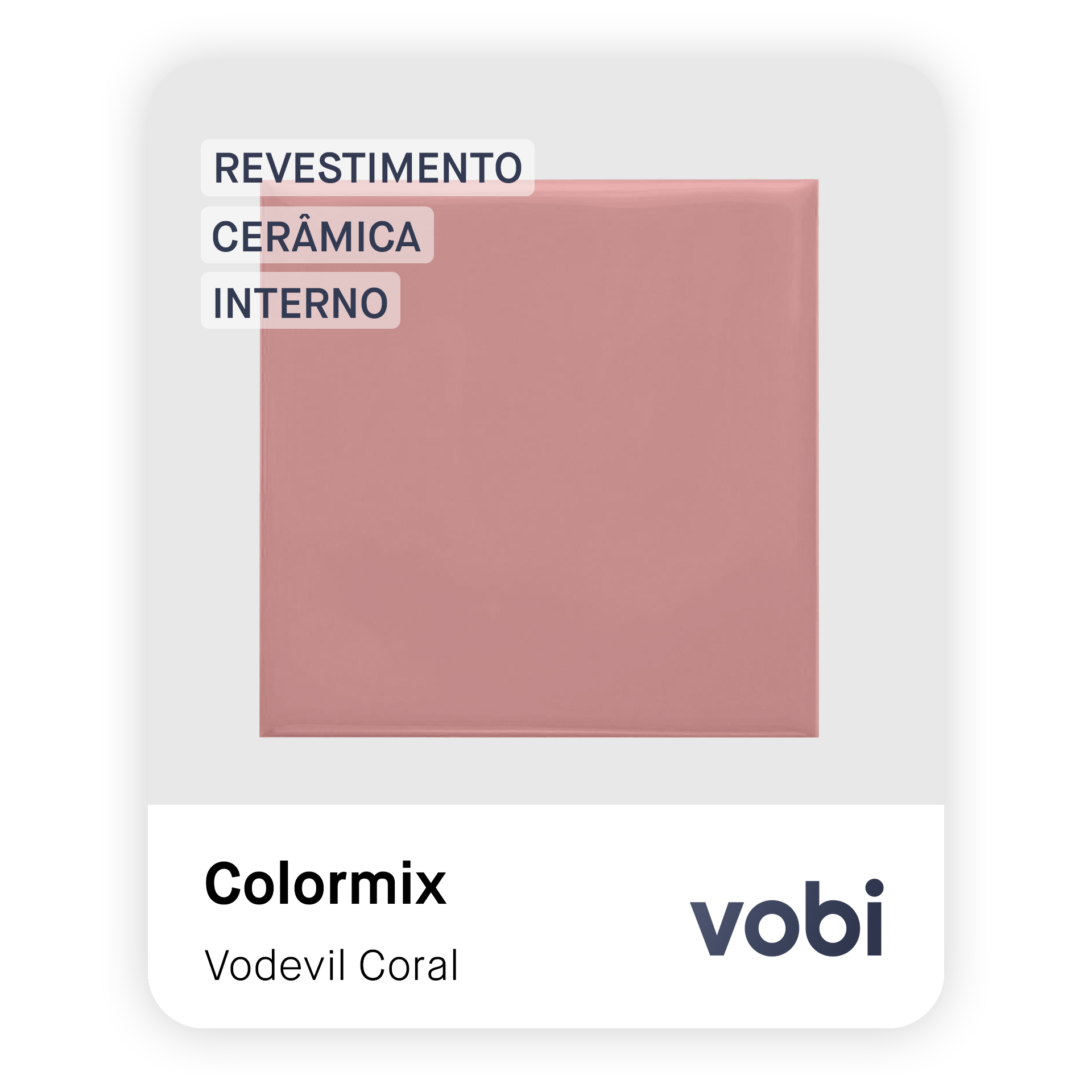 revestimento cerâmica rosa interno