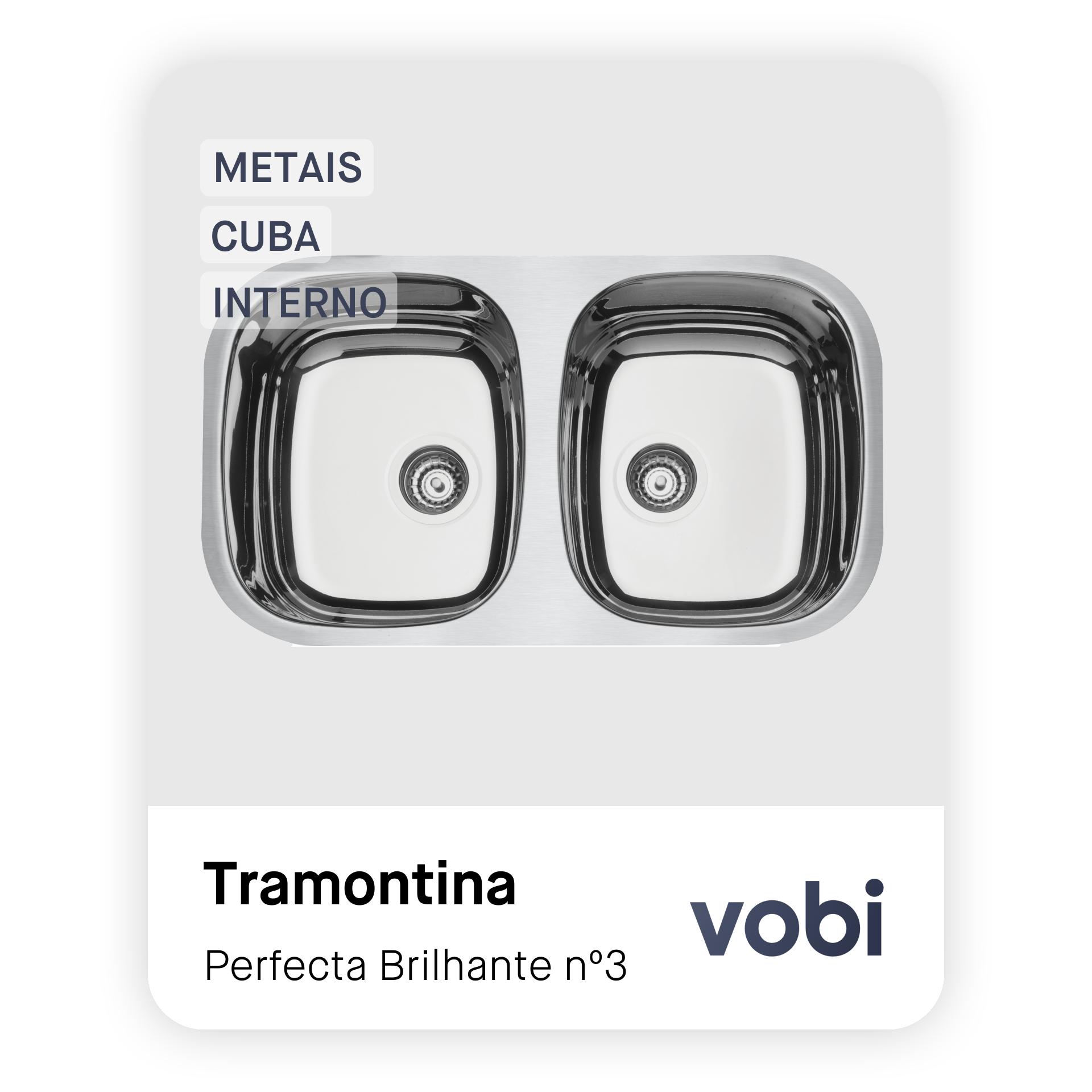 metais cuba dupla embutir interno