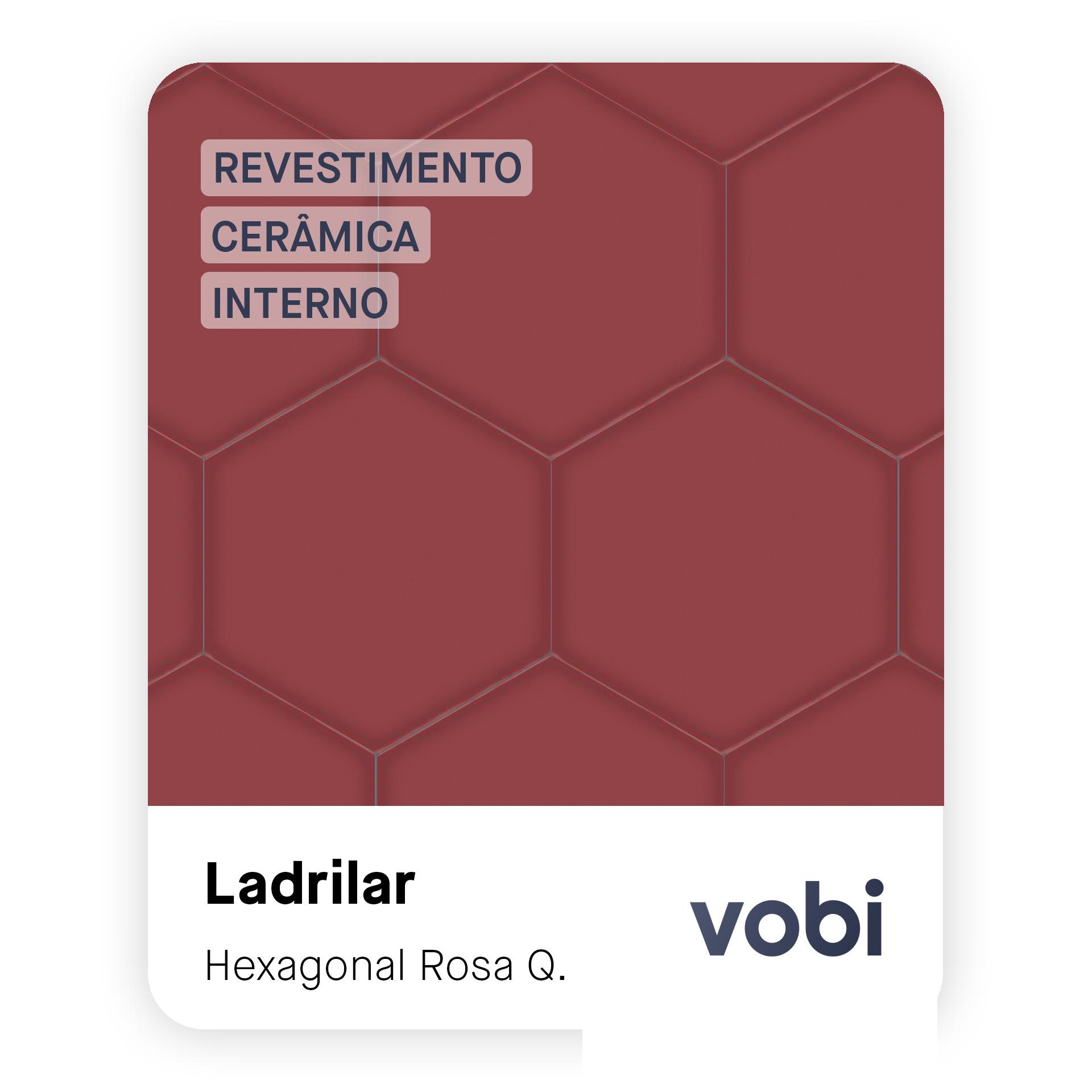 revestimento cerâmica hexagonal rosa interno