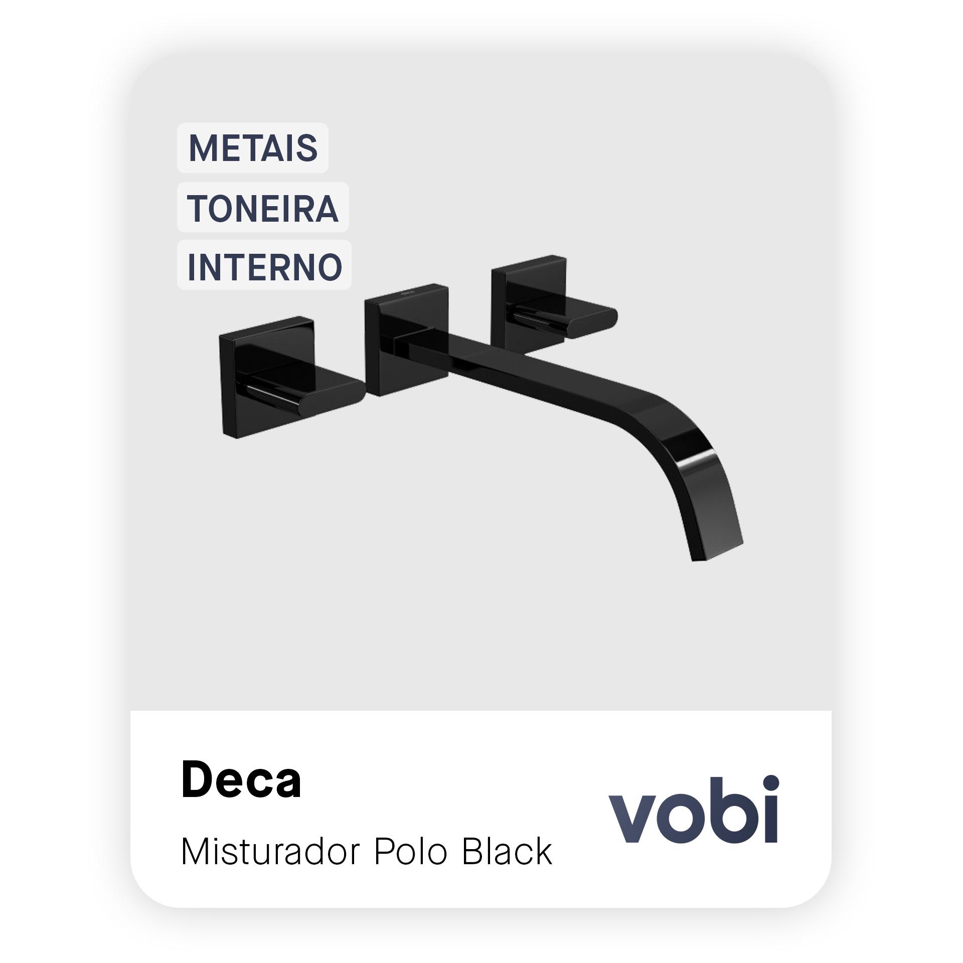 metais toneira misturador de parede preto interno