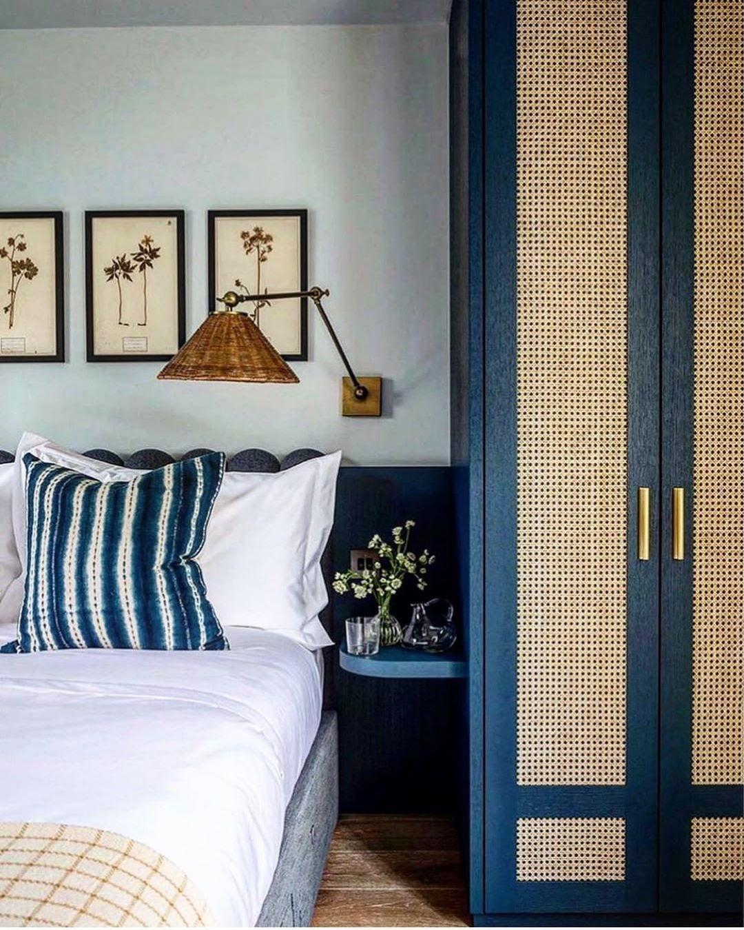 madeira azul quarto casal