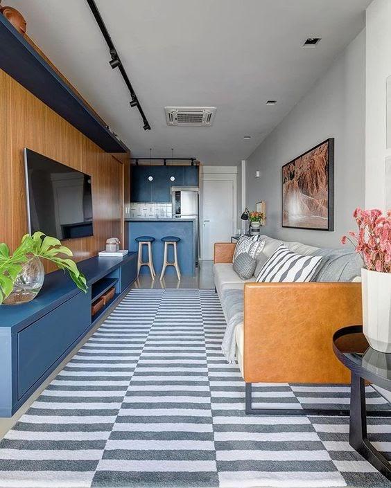 sala marcenaria azul