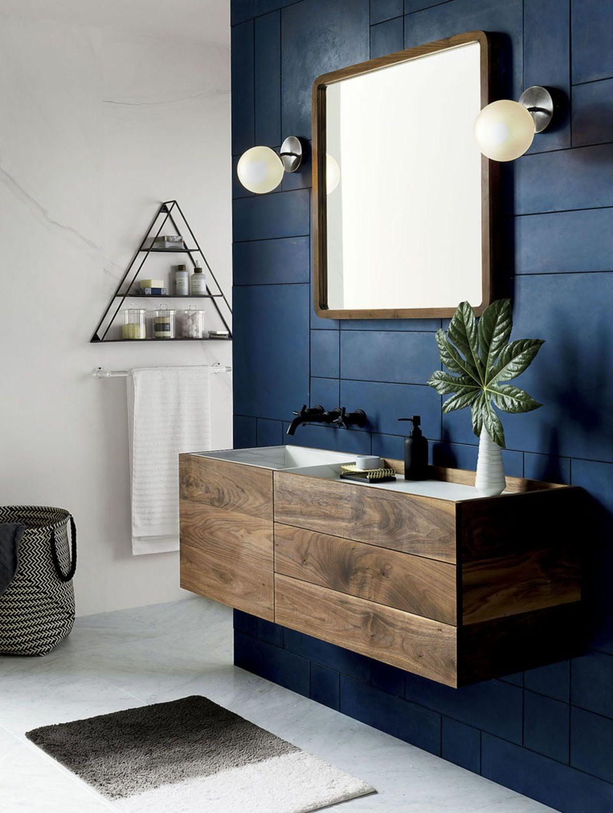 banheiro revestimento geométrico