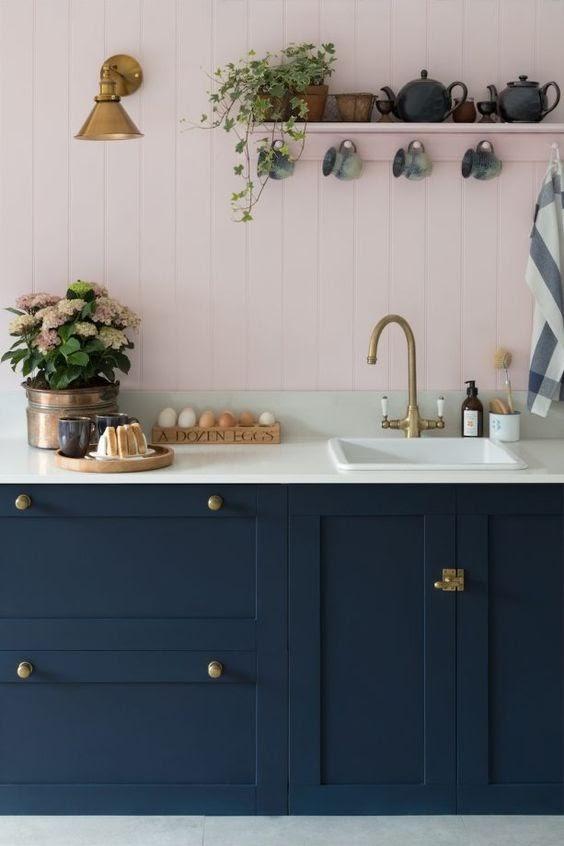 cozinha marcenaria azul