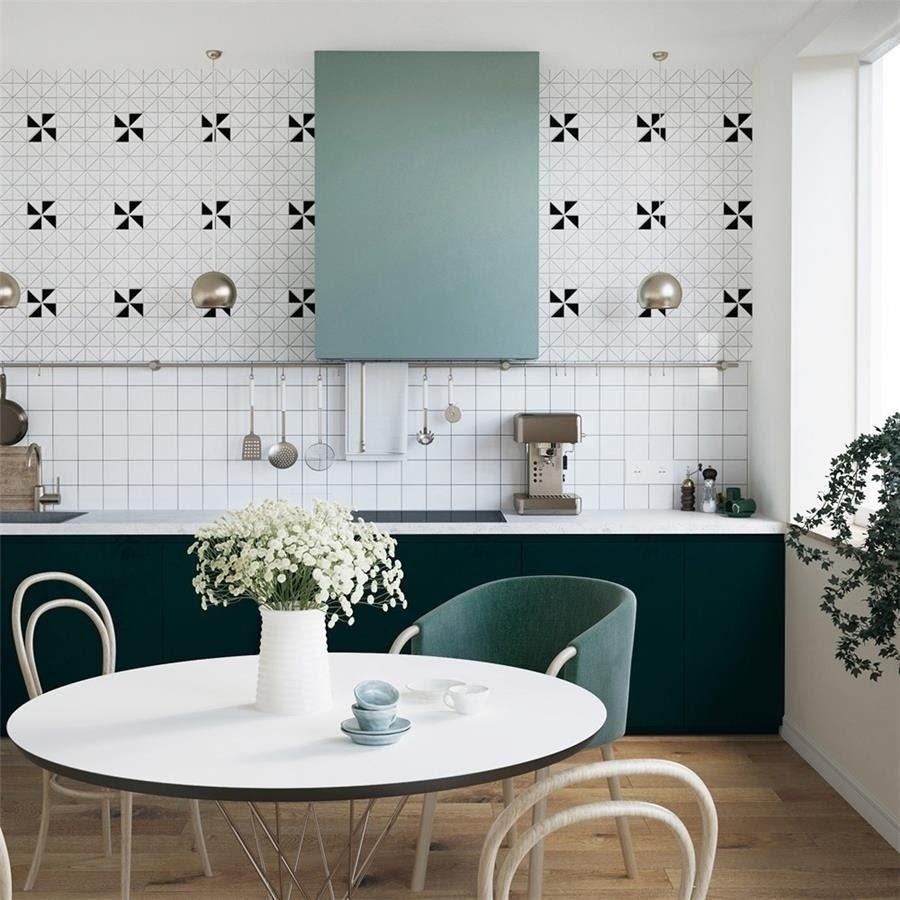 cozinha azulejo quadrado estampado