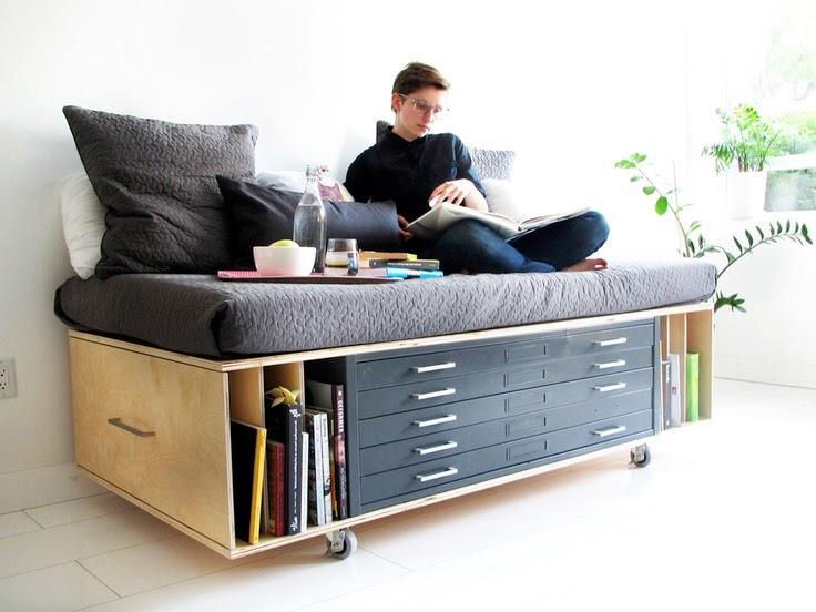 sofá estante