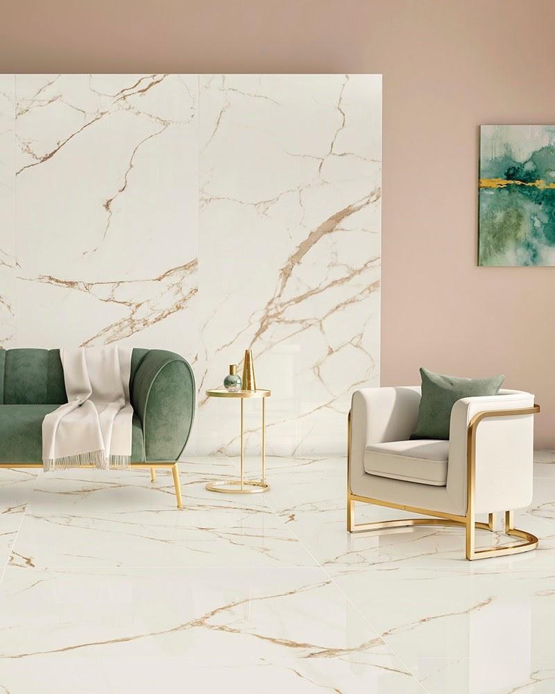 sala porcelanato mármore