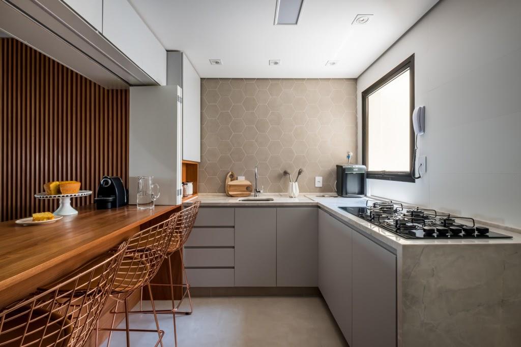 cozinha revestimento hexagonal cimento